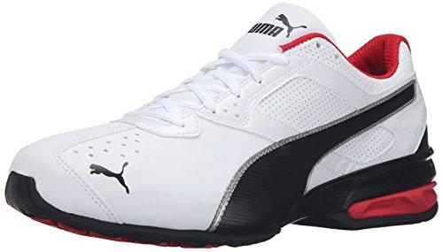 PUMA Mens Tazon 6 FM Puma White/ Puma Black/ Puma Silver Running Shoe - 13 D(M) US